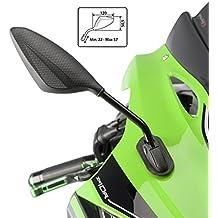 Espejo Retrovisor Puig RS2 Yamaha FZ6 Fazer S2 07-10 (pareja) simil carbono