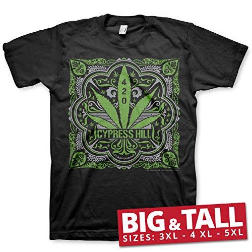 Cypress Hill Officiellement sous Licence 420 Big & Tall 3XL,4XL,5XL T-Shirt Pour Hommes (Noir), 4X-Large