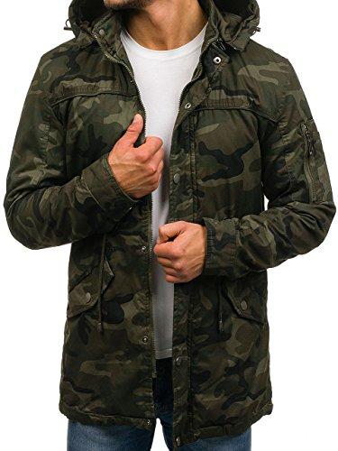 BOLF Herren Camouflage Parka