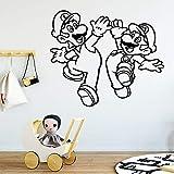 GJQFJBS Adesivi murali moderni super personaggi dei cartoni animati per bambini adesivi murali in vinile adesivi murali carta da parati per bambini A2 42x49cm