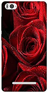 The Racoon Grip printed designer hard back mobile phone case cover for Xiaomi Mi4i. (Red Rose)