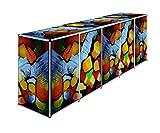 ToPaBox Mülltonnenbox, kontraste 17, 80 x 348 x 122 cm, 4251260907530