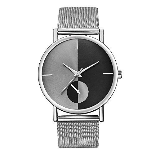 Yusealia Relojes Pulsera Mujer Despeje, Casual Reloj Analógico de Cuarzo de Acero Inoxidable Dama Relojes para Negocio