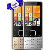I KALL K6300 Dual Sim 2.8 Inch Display Basic Feature Mobile Phone COMBO OF TWO With Bluetooth, GPRS, Flash Light, 1800 Mah Battery Capacity- Silver & Golden