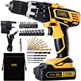 """Cordless Drill Driver, UTOOL 20V MAX Power Drill Driver 3/8"""" 16+1 Position Clutch"""