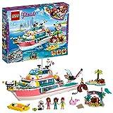 LEGO Friends - Le bateau de sauvetage, Jouet pour Fille et Garçon à Partir de 7 Ans et Plus, 908 Pièces - 41381