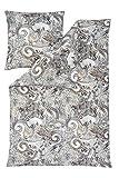 Estella Mako Interlock Jersey Bettwäsche Benita Stein 155x220 cm + 80x80 cm