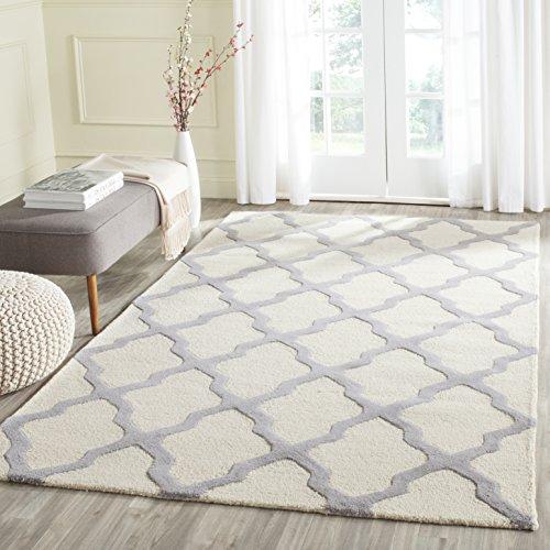 Safavieh Ava handgetufteter Teppich, CAM121Y, Elfenbein / Silber, 182 X 274  cm