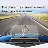ZHUOYUE Universal Smartphone Projektor HUD Head Up Display Halter Auto GPS Navigator Autohalterung Ständer Handyhalter Schwarz Rutschfeste Matte, Schwarz