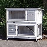 Animalhouseshop.de Kaninchenstall Kim mit Nageschutz und Isolierset 116x65x111cm