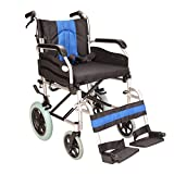 "Lightweight aluminium folding narrow 16"" seat width transit transfer attendant Wheelchair ECTR02-16"