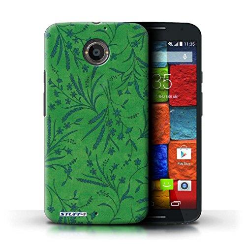 Kobalt® Imprimé Etui / Coque pour Motorola Moto X (2014) / Rouge/Vert conception / Série Motif floral blé Vert/Bleu