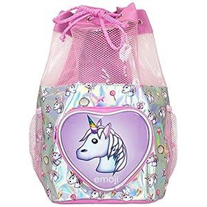 Emoji Bolsa de Natación para Niñas Unicornio