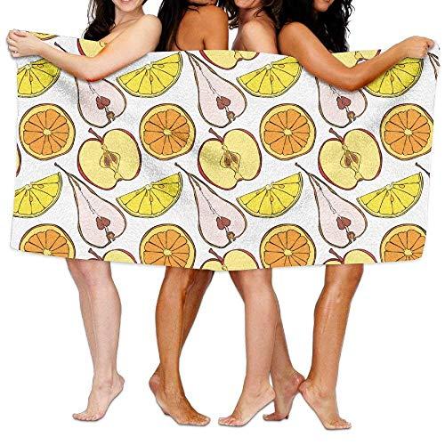 xcvgcxcvasda Serviette de Bain, Soft, Quick Dry, Fruit Slices Super Soft and Absorbent Unisex Bathroom Towels