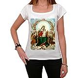 Mary Jesus Angels T-shirt Femme,Blanc, t shirt femme,cadeau