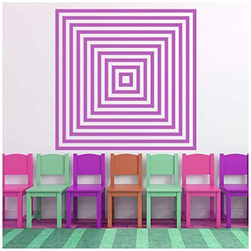 azutura Quadratisches Muster Wandtattoo 3D optische Täuschung Wand Sticker Schlafzimmer Haus   Dekor verfügbar in 5 Größen und 25 Farben X-Groß Blatt Grün