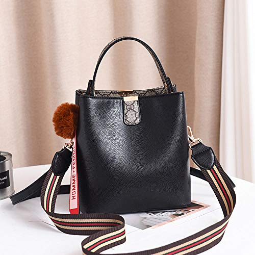 Fyyzg Fashion Handtasche Korean Fashion Single Shoulder Sling - Pure Black