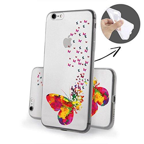 Motivo Serie 1 Custodia Rigida Iphone - GATTO CORTO, Iphone 6/6S MOLTI farfalle