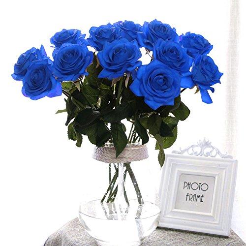 10 Stk. Seide künstliche Rose,künstliche Rose Blumen Kunstblumen Blume Dekoration Blumenstrauß DIY Blumenarrangement