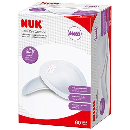 NUK 10252081 Ultra Dry Comfort Stilleinlagen (extrem saugstark, perfekte Passform, hautfreundlich) 60er Packung