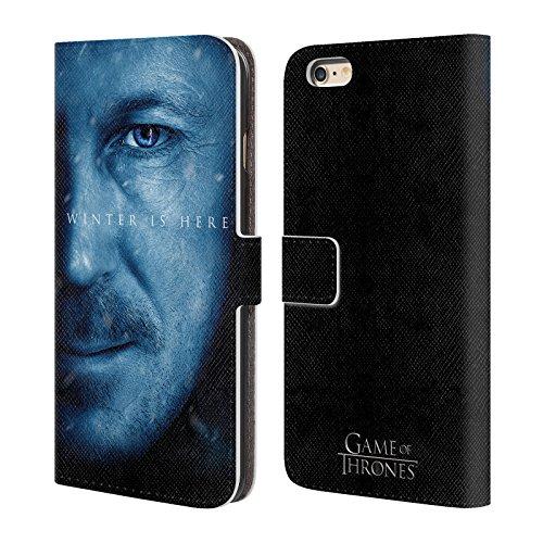 Offizielle HBO Game Of Thrones Daenerys Targaryen Winter Is Here Brieftasche Handyhülle aus Leder für Apple iPhone 7 Plus Petyr Baelish