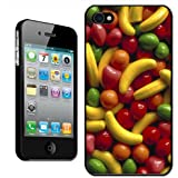 Fancy A Snuggle 'Willy Wonka Sweets Strawberry' Clip On Back Cover Hard Case for Apple iPhone 4/4S
