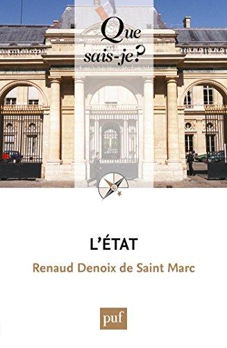 L'État: « Que sais-je ? » n° 616 par Renaud Denoix de Saint Marc