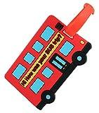 2 Pack Kofferanhänger Reise Koffer Label Tags Cartoon Versand Kofferanhänger, Rot