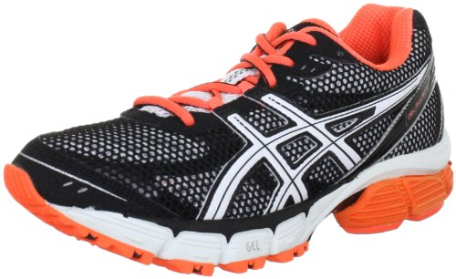 Asics GEL-PULSE 4 T290N Damen Laufschuhe Schwarz (Black/White/Electric Melon 9001)