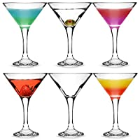 bar@drinkstuff Essence Martini Cocktail Glasses 175ml - Set of 6 - Gift Boxed Classic V Shaped Martini Glasses for Serving Cocktails