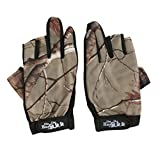 Breathable Non-Slip 3 Low-Cut Fingers Fishing Gloves Cycling Fishing Hunting Gloves