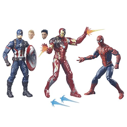 Civil-War-Legends-Action-figures-Spiderman-Capitan-America-Iron-Man-3-Action-Figures-15-cm