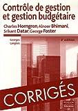 Corrigés Contrôle de gestion et gestion budgétaire