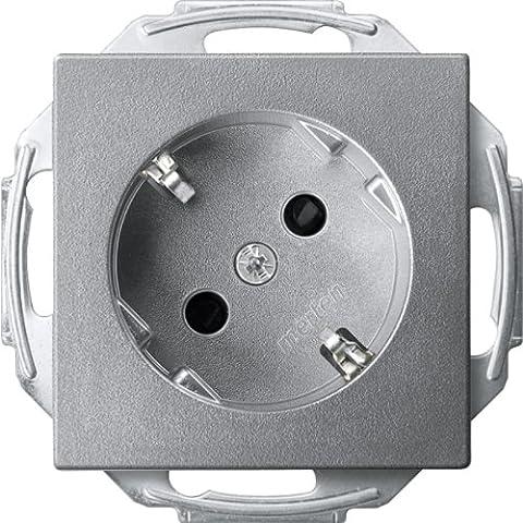 Merten MEG2370Flask SCHUKO PLUG 45Degrees, Brs, Plug-In Terminals, Aluminium, System M