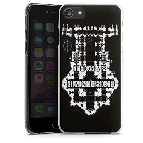Apple iPhone X Silikon Hülle Case Schutzhülle Thomas Hanisch Schwarz Weiß Rock n Roll Hard Case transparent