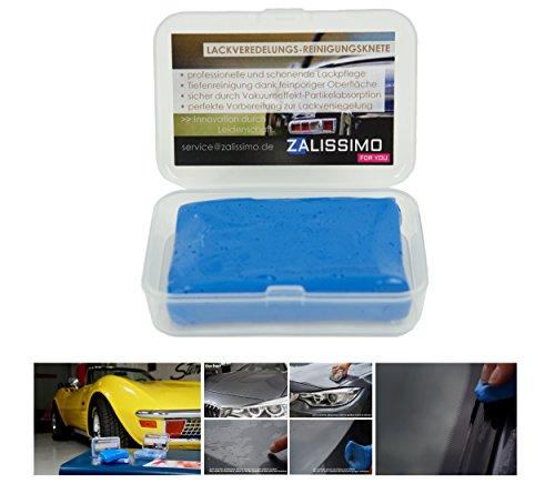Auto Reinigungsknete Lackveredelung Tiefenreinigung für Lacke, Glas, Chrom und Felgen in Aufbewahrungsbox - zur schonenden und effektiven Lackreinigung und Vorbereitung für Wachs- und Nano- Versiegelungen, Polituren und Folierungen an Auto und Motorrad