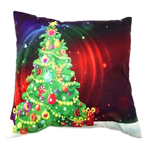 Charberry Père Noël Taie d'oreiller Canapé Taille Throw Housse de coussin, Tissu super doux, C, Size: 45cm*45cm