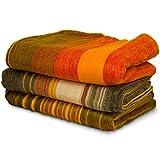 Queste coperte sono molto morbide e calde, ideali per un clima freddo. Ogni coperta è unica nel colore e nel modello, non ci sono due copertine che siano le stesse. Sono realizzate a mano in Ecuador da una piccola azienda a conduzione familiare.170x...