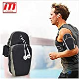 Waterproof Sport Armband Unisex Running Jogging Gym Phone Pouch Arm Band Case Cover for Mobile iPhone 6s 6 Plus Phones Till 5.7 inches (Color as per Availability)