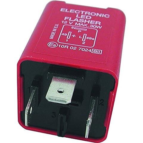 Cuadrado Teckniks FL13 12 V 3 pin intermitente y axfisia fusible