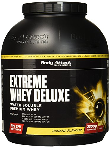 Whey Banana Cream Protein (Body Attack Extreme Whey Deluxe, Banana Cream, 2,3kg Dose)