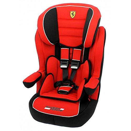 Mycarsit Siège Auto Ferrari, Groupe 1/2/3 (de 9 à36 kg), Rouge
