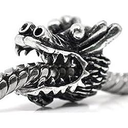 Sexy brilla de la mujer dragón Charm para pulsera de cadena de serpiente