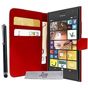 Etui Housse Luxe Rouge Portefeuille Microsoft Lumia 535 + STYLET et 3 FILM OFFERT!!