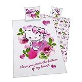 Herding 4006891895769 Bettwäsche Hello Kitty 50 x 60 + 150 x 210 cm