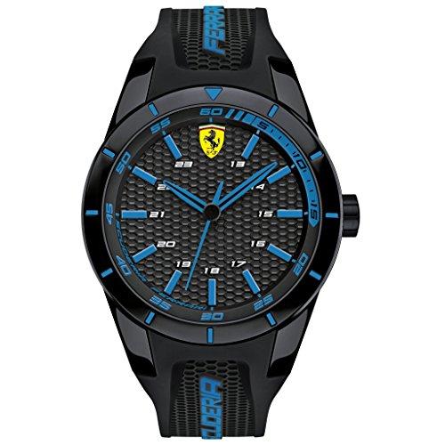 Scuderia Ferrari Orologi hombre-reloj Red Rev analógico de cuarzo silicona 0830247