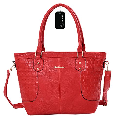 Kukubird Katrina Tote Bag borsa Casual tutti i giorni Red