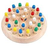 GOUXIN Scacchi di memoria di colore in legno, Giocattolo educativo per lesercizio della memoria del bambino, Miglioramento del gioco di abilità cognitiva per bambini, Adatto per 3 anni e oltre