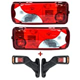 Fanale posteriore sinistro e destro per camion + 2 indicatori laterali