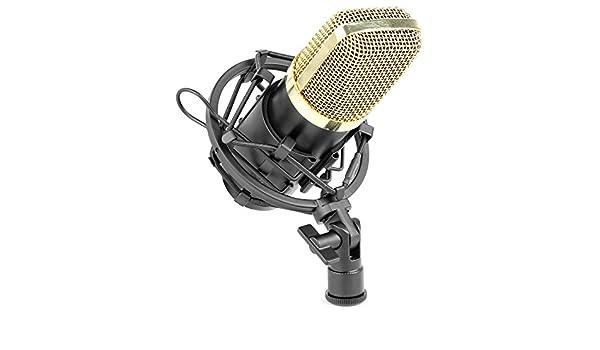id/éal pour studio et streamer SPL /élev/é Vonyx CM400 Microphone /à condensateur noir et or microphone de studio grand diaphragme faible distorsion pour chant et instruments prise jack 3.5mm